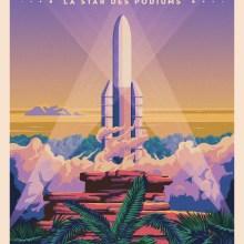 De belles affiches rétro-futuristes du CNES, dispo en HD jusqu'au 19 décembre