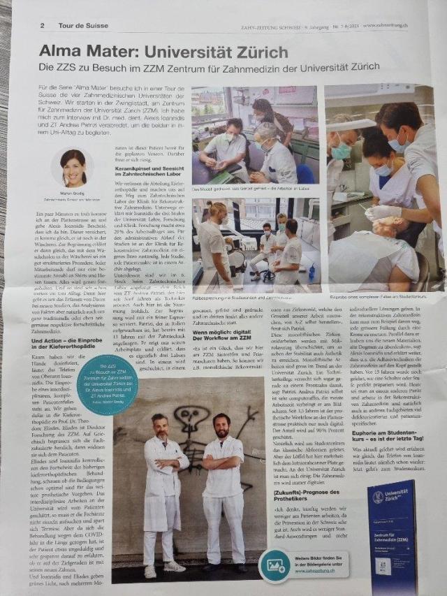 reportage vom zzm marion gredig an der uni zürich für die Zahn-Zeitung