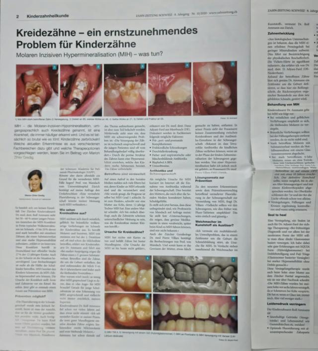 MIH molaren inzisiven hypermineralisation bericht in der ZZS