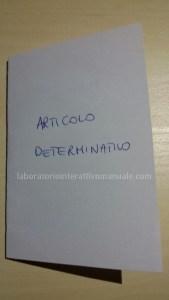 minibook articolo determinativo
