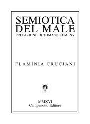 Semiotica del male – Flaminia Cruciani