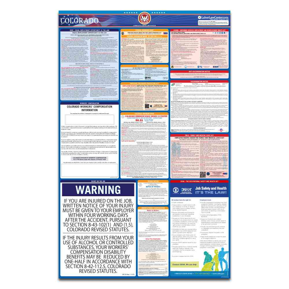 colorado federal labor law poster 2021 replacement service