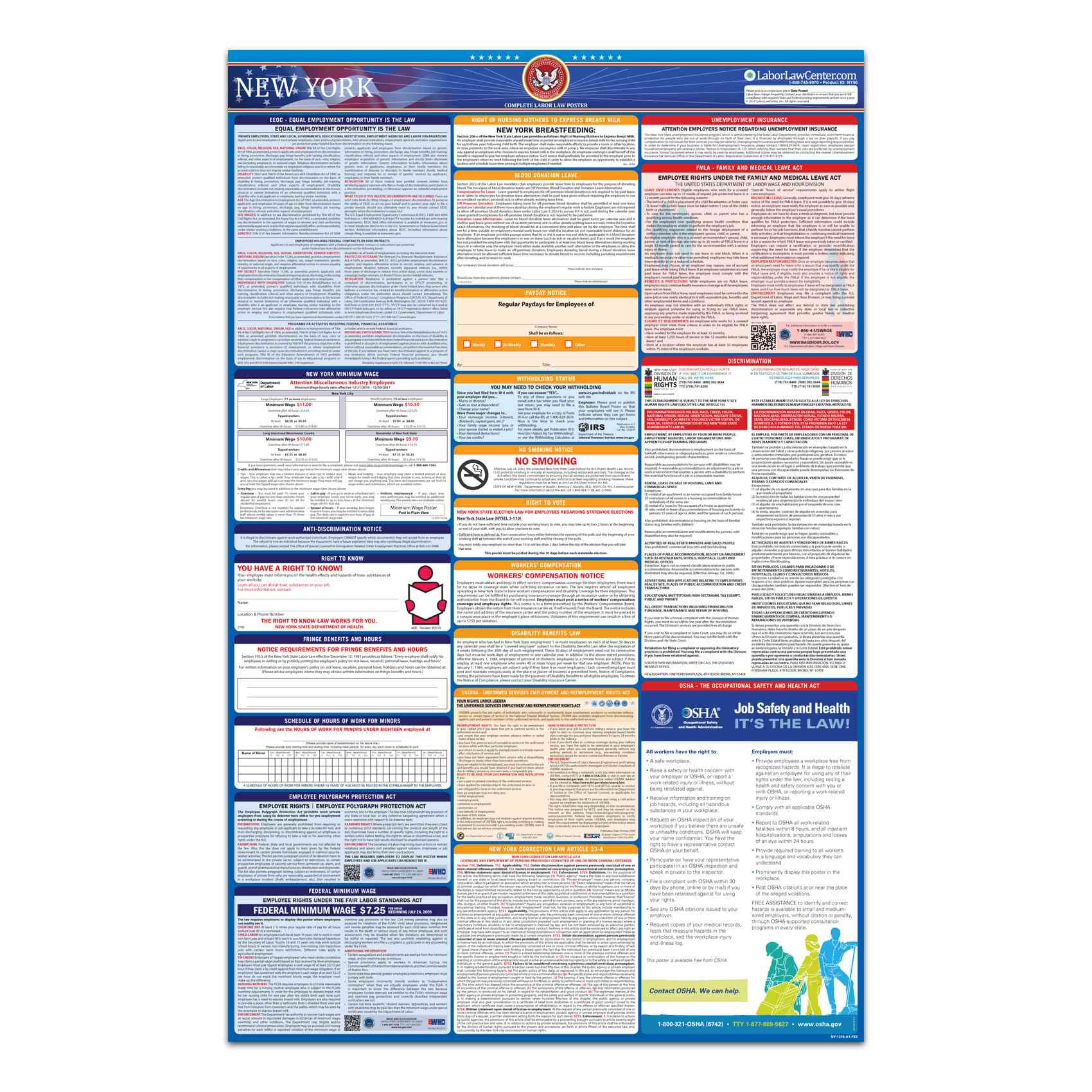 new york federal labor law poster 2021 replacement service