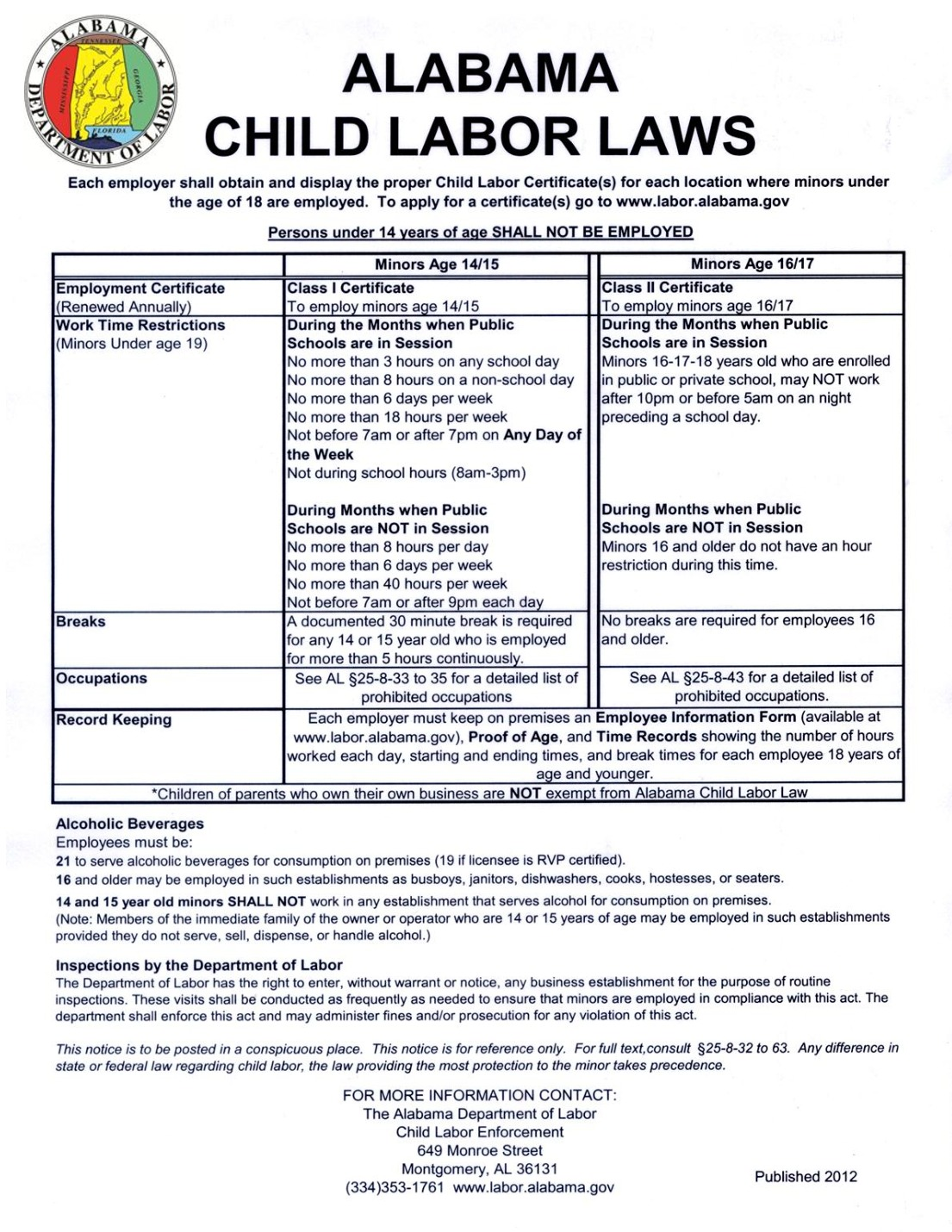 free alabama child labor law 2021