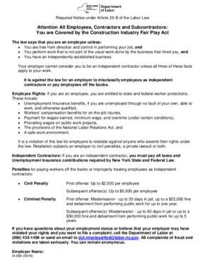 new york minimum wage labor law poster 2021