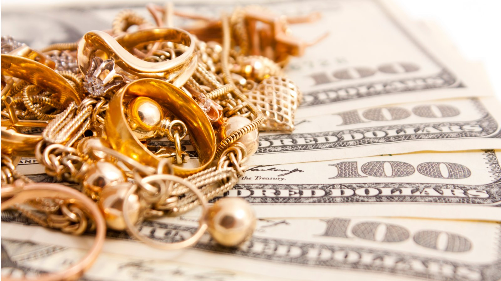 Gold Jewelry and Cash