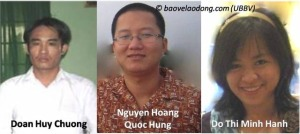 Jailed Vietnamese labour rights advocates.