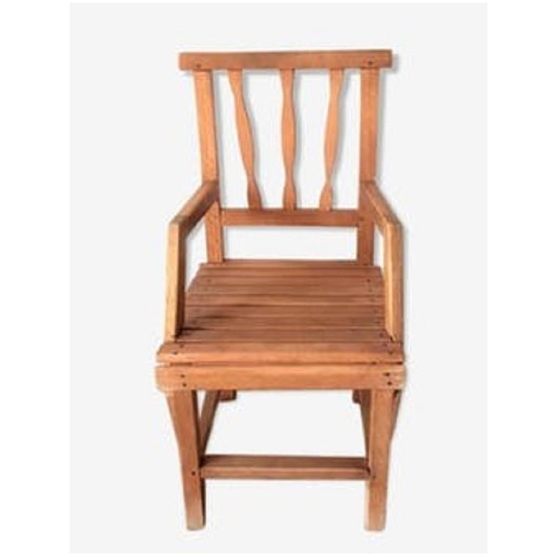 petite chaise enfant ancienne en bois tourne