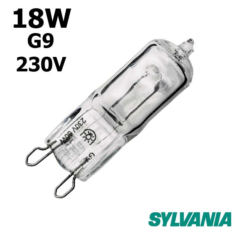 ampoule sylvania hi pin 18w g9 230v