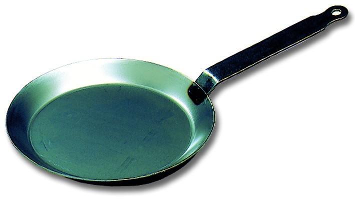 grande poele a crepes pancake en acier ronde o 24 cm