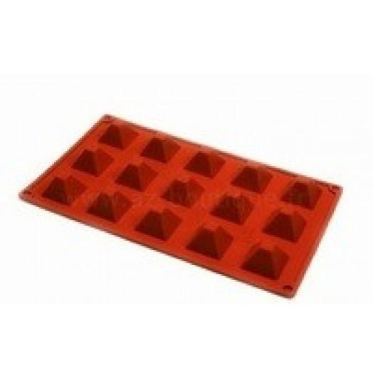 moule en silicone 15 mini pyramides silicon flex
