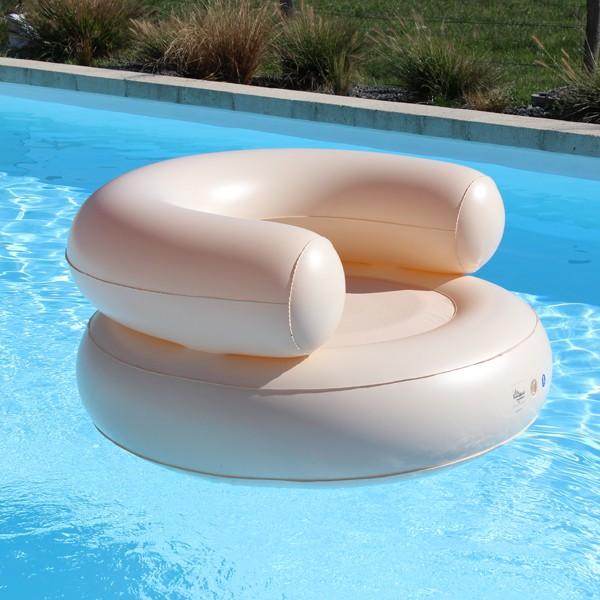 fauteuil piscine gonflable pastels