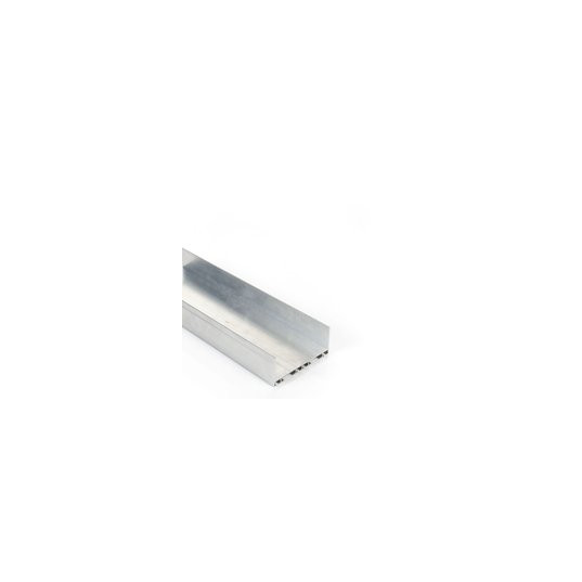 profile en u alu de 80 x 35 long 6060 pour joint haut et bas