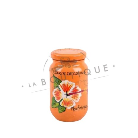 petit pot sucre orange fleur