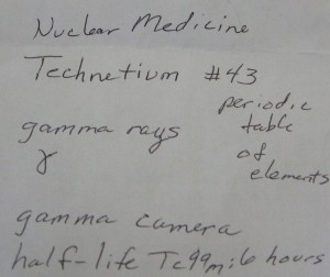 Note from Dr. about Tc-99m