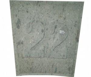 Número 22 Tallado