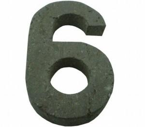 Número 6 suelto