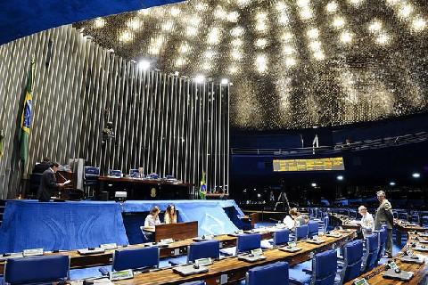 Plenário do Senado durante sessão deliberativa ordinária. (Waldemir Barreto - Agência Senado)