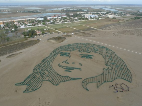 350 Earth exposición arte ecológico ver desde aire