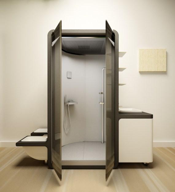 Diseño italiano módulo casero reciclaje agua baño