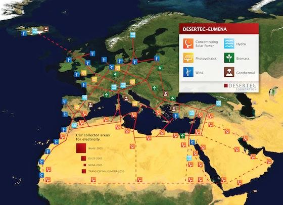 Proyecto convertir desiertos plantas energías renovables