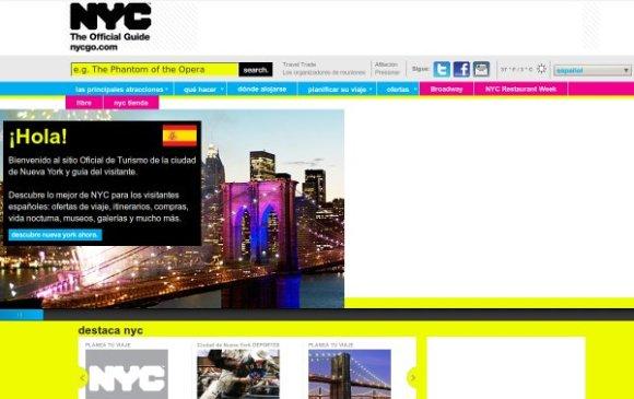 Nueva York incorpora español web turística