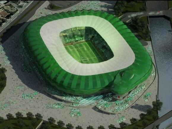 Estadio forma cocodrilo Turquía