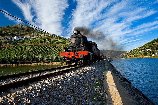 Alto Duero portugués tren vapor