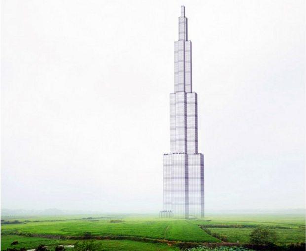 Rascacielos grande mundo construirá China sólo 3 meses