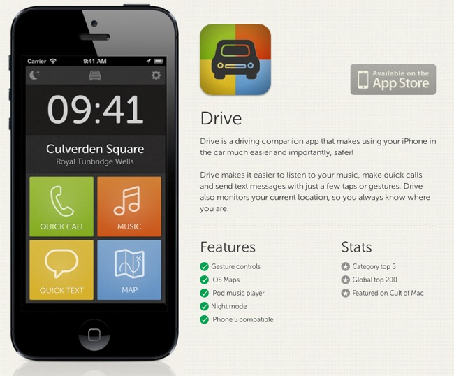 Drive iphone