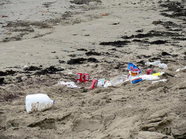 Goa reparte bolsas playas recoger basura