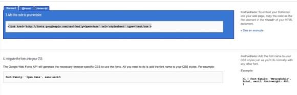 Google web fonts 4