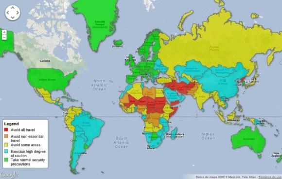 mapa recomendacion viaje