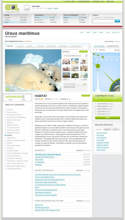 Eol Demo Page -- Polar Bear (Expert View) (20070510)