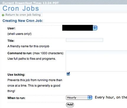 Cron Jobs en DreamHost
