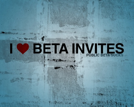 El wallpaper de la semana: I heart beta invites