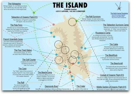 El mapa de Lost (Perdidos)