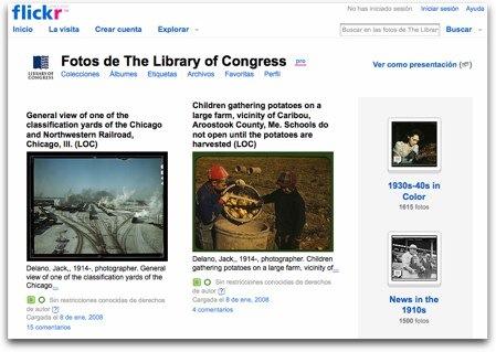 La Biblioteca del Congreso en Flickr