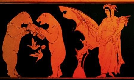 Pinturas inspiradas en la cerámica griega