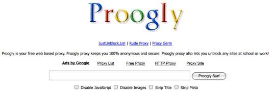 Proogly, un proxy para navegar de manera anónima