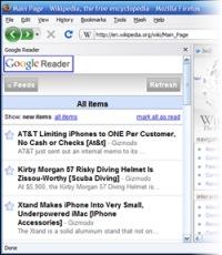 Google Reader en el sidebar de Firefox