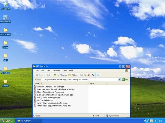 Diseño web que simula Windows XP