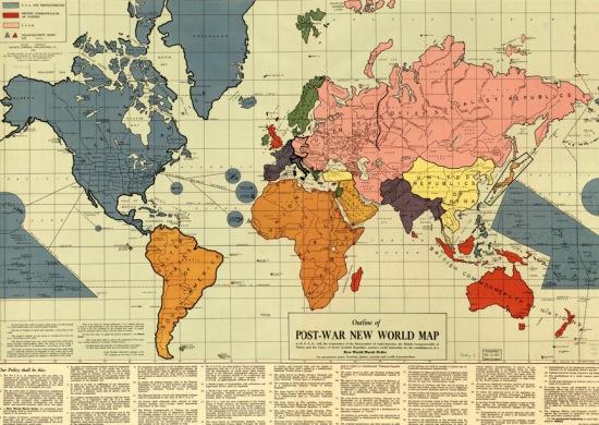 Mapa del Nuevo Orden Moral mundial en 1942