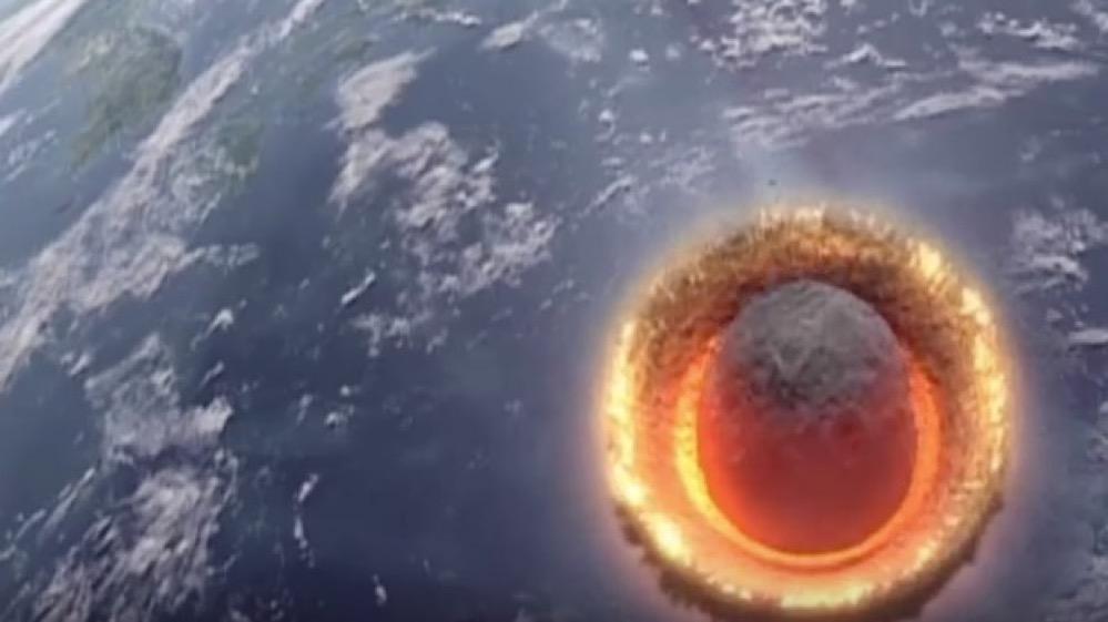 Impacto de un asteroide de 500 km contra la Tierra
