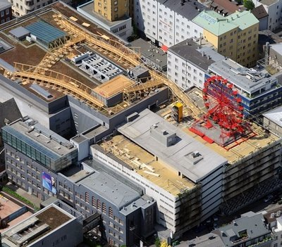 Höhenrausch: arte en los tejados de Linz