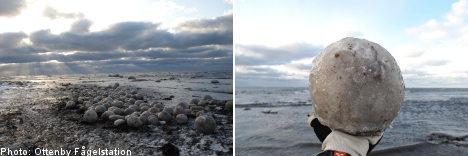 Misteriosas bolas de hielo en Suecia y Michigan