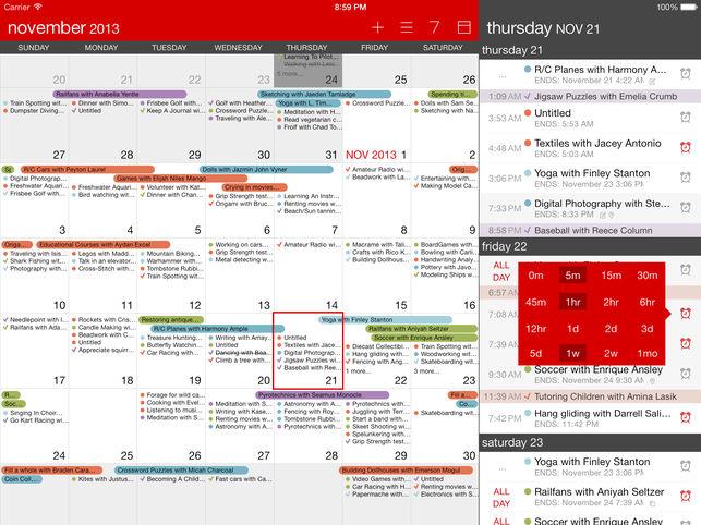 Calvetica para iPhone: el calendario reinventado