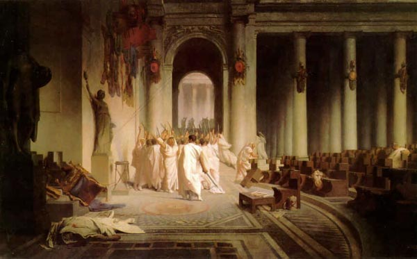 La escena del crimen de Julio César