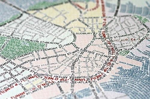 Mapas hechos con tipografía