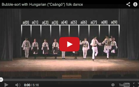Algoritmos de ordenación explicados con danzas